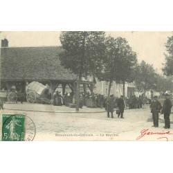 77 BEAUMONT-DU-GÂTINAIS. Le Marché 1908