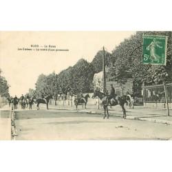 41 BLOIS. Le Haras, la rentrée d'une promenade des Etalons 1912