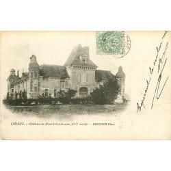 carte postale ancienne 14 LISIEUX. Château de Mesnil-Guillaume 1902