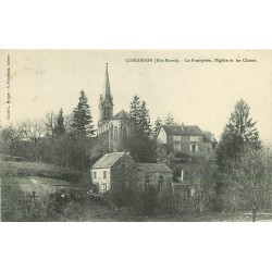 2 x Cpa 52 CORGIRNON. Presbytère, Eglise et Classes 1908