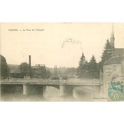 2 x Cpa 70 VESOUL. Pont de l'Hôpital 1906 et rue Leblond & la Motte de nuit 1907