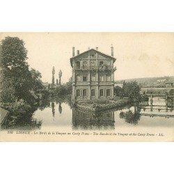 carte postale ancienne 14 LISIEUX. Bords de la Touques au Camp Franc