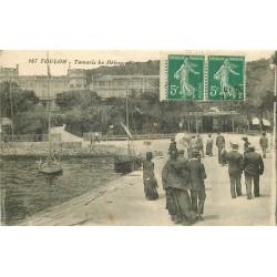 2 x cpa 83 TOULON. Tamaris le Débarcadère 1915 et Grand Hôtel Place Liberté 1905