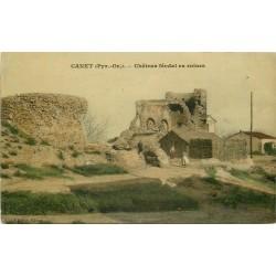 66 CANET. Château féodal en ruines animation 1919