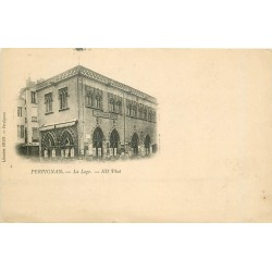 66 PERPIGNAN. La Loge avec timbre 1 centime 1910