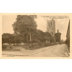 62 SAINT-OMER. Jardins et ruines Abbaye Saint-Bertin