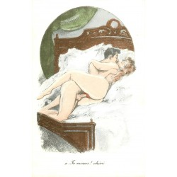 "EROTISME. Couple faisant l'amour "" Je meurs ! chéri "" Sexe"
