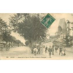 41 BLOIS. Ouvriers et Ouvrières Avenue de la Gare 1908