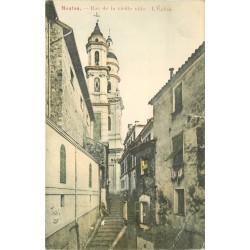 2 x cpa 06 MENTON. Vieille rue 1905 et Promenade du Midi