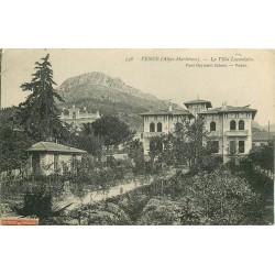 2 x cpa 06 VENCE. Villa Lacordaire 1911 et Fontaine Peyra 1949