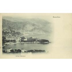 2 x cpa 06 BEAULIEU-SUR-MER. Hôtel Bristol et vue nuage vers 1900