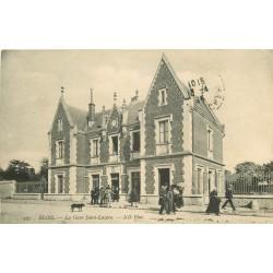 41 BLOIS. La Gare Saint-Lazare animée 1915