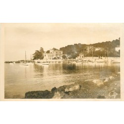 2 x cpa 06 ANTIBES. Villas petit Port Aubernon (real photo) et Juan-les-Pins 1905