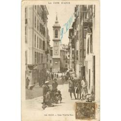 06 NICE. Enfants dans une Vieille rue du Vieux Nice 1931