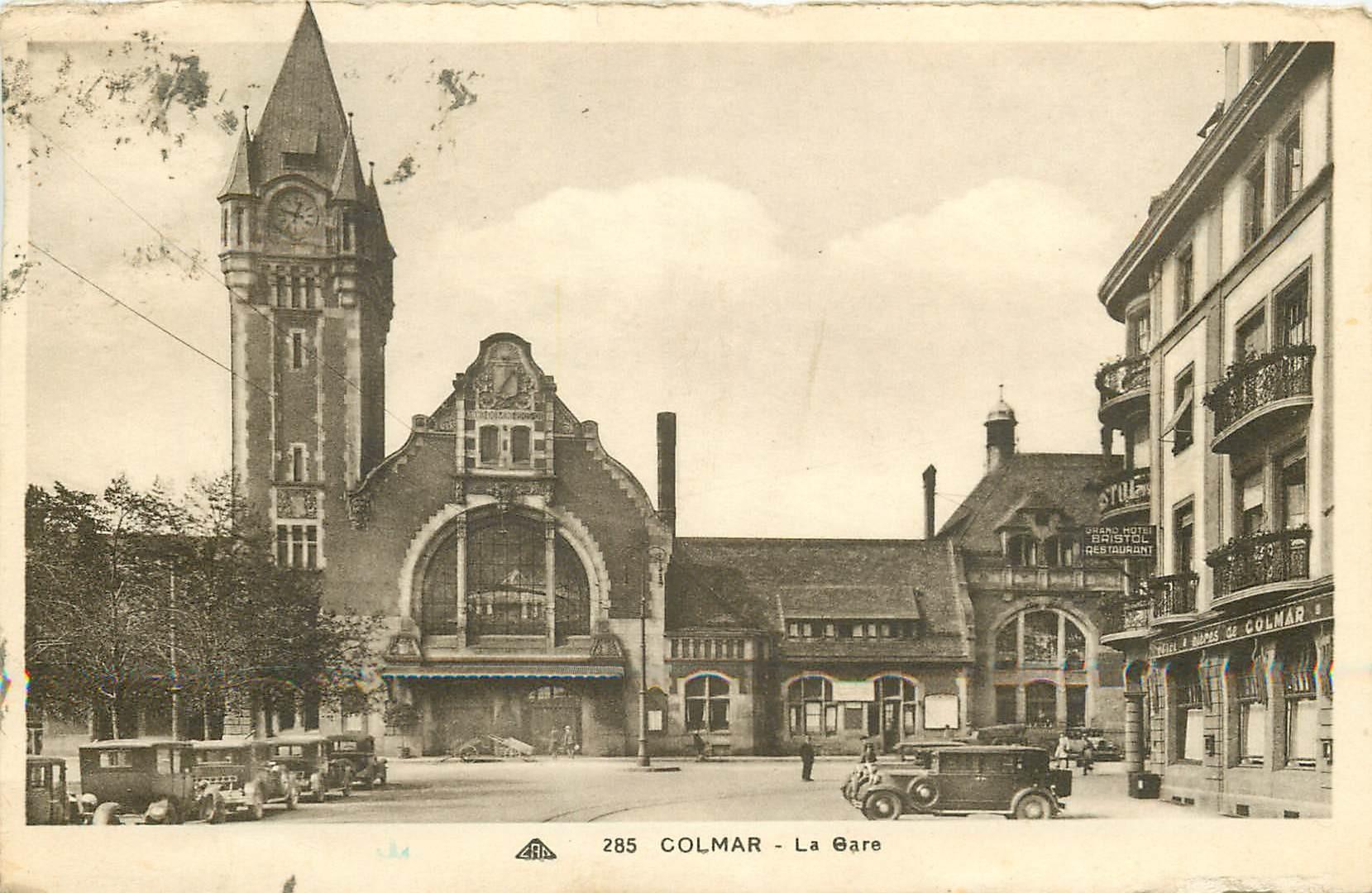 68 COLMAR. La Gare 1936