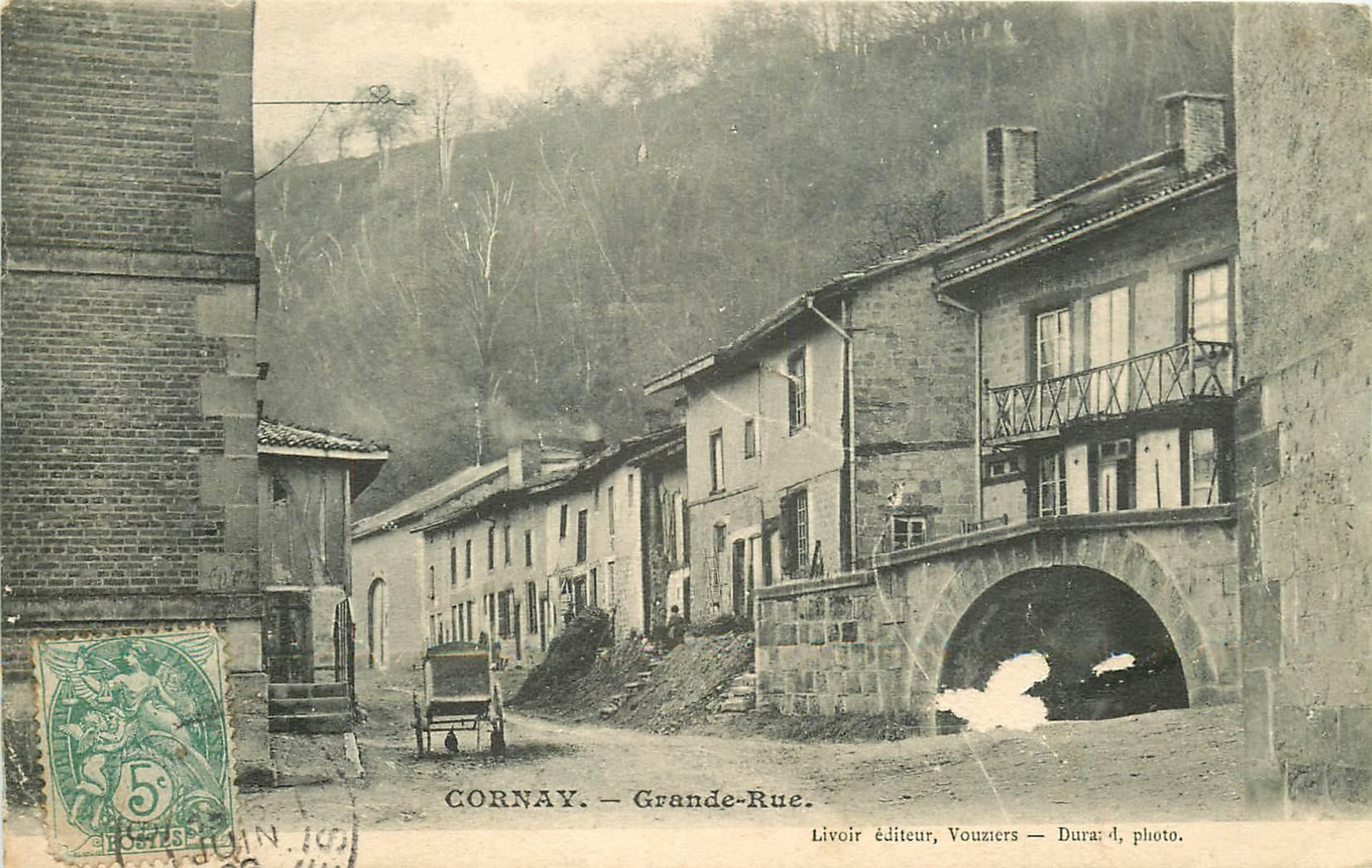 08 CORNAY. Grande Rue 1906