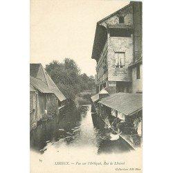 carte postale ancienne 14 LISIEUX. L'orbiquet Rue de Livarot Lavandières