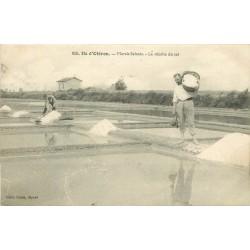 17 ILE D'OLERON. La récolte du sel dans les Marais Salants 1905