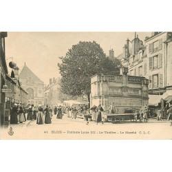 41 BLOIS. Théâtre, Marché et Fontaine