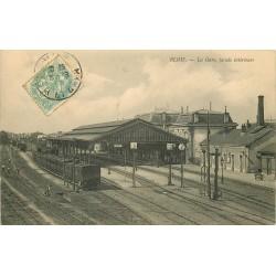 41 BLOIS. Train dans la Gare timbre taxe 1908