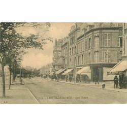 2 x cpa 14 TROUVILLE. Quai Tostain et Bac pour Deauville 1902