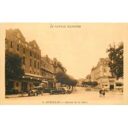 2 x cpa 15 AURILLAC. Grand Hôtel Univers avenue de la Gare
