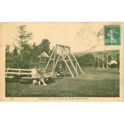 3 x cpa 15 AURILLAC. Le Parc des Sports avec balançoires et cordes à grimper 1923