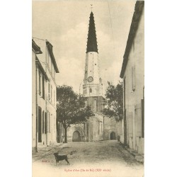 17 ILE DE RE. Eglise d'Ars vers 1900