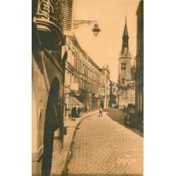 2 x cpa 17 LA ROCHELLE. Rue Dupaty et Bateau de Pêche 1900