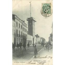 2 x cpa 17 ROCHEFORT-SUR-MER. Tour Signaux 1903 et Pont Transbordeur