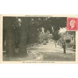 2 x cpa 17 FOURAS-LES-BAINS. Chênes boulevard des 2 Ports et le Port