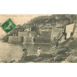 2 x cpa 17 FOURAS-LES-BAINS. Falaises du Bois animation vert 1913 et les Sapinettes