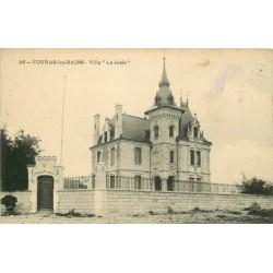 """2 x cpa 17 FOURAS-LES-BAINS. Villa """" La Jetée """" 1910 et la Terrasse 1905"""