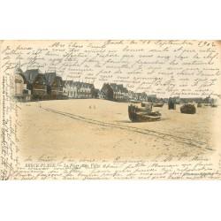 62 BERCK. Villas et barques sur la Plage 1902