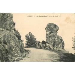 19 SERANDON. Animation au Rocher Louis XVI en 1912