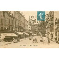 41 BLOIS. Voitures ancienne devant Grand Café Cuiry rue Porte-Côté 1927