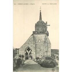 2 x cpa 22 PERROS-GUIREC. Cimetière de l'Eglise et attelage devant Eglise de la Clarté