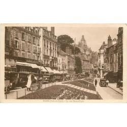 41 BLOIS. Belles voitures anciennes rue Denis-Papin 1934