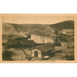 2 x cpa 22 SAINT-BRIEUC. Bassin du Légué 1949 et Caserne Charner 1909