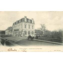 2 x cpa 18 SAINT-AMAND. Grand Café Eldorado sur Pont Neuf et vue 1903