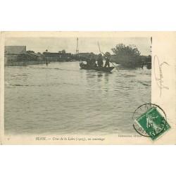 41 BLOIS. Un sauvetage en barque pendant la Crue de la Loire en 1907
