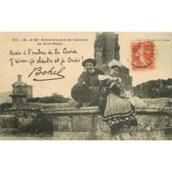 29 PORT-BLANC. Botrel au pied du Calvaire 1910