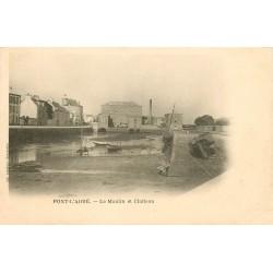 29 PONT-L'ABBE. Le moulin et le Château carte rare vers 1900