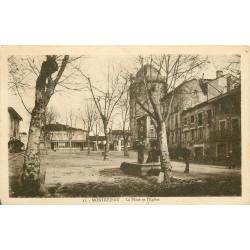 31 MONTREJEAU. Place de l'Eglise 1951