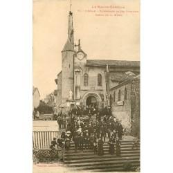 2 x cpa 31 PIBRAC. Pélerinage Sortie de la Messe et Chasse Sainte-Germaine