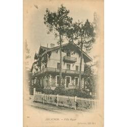 2 x cpa 33 ARCACHON. Villas Riquet et Faust 1908