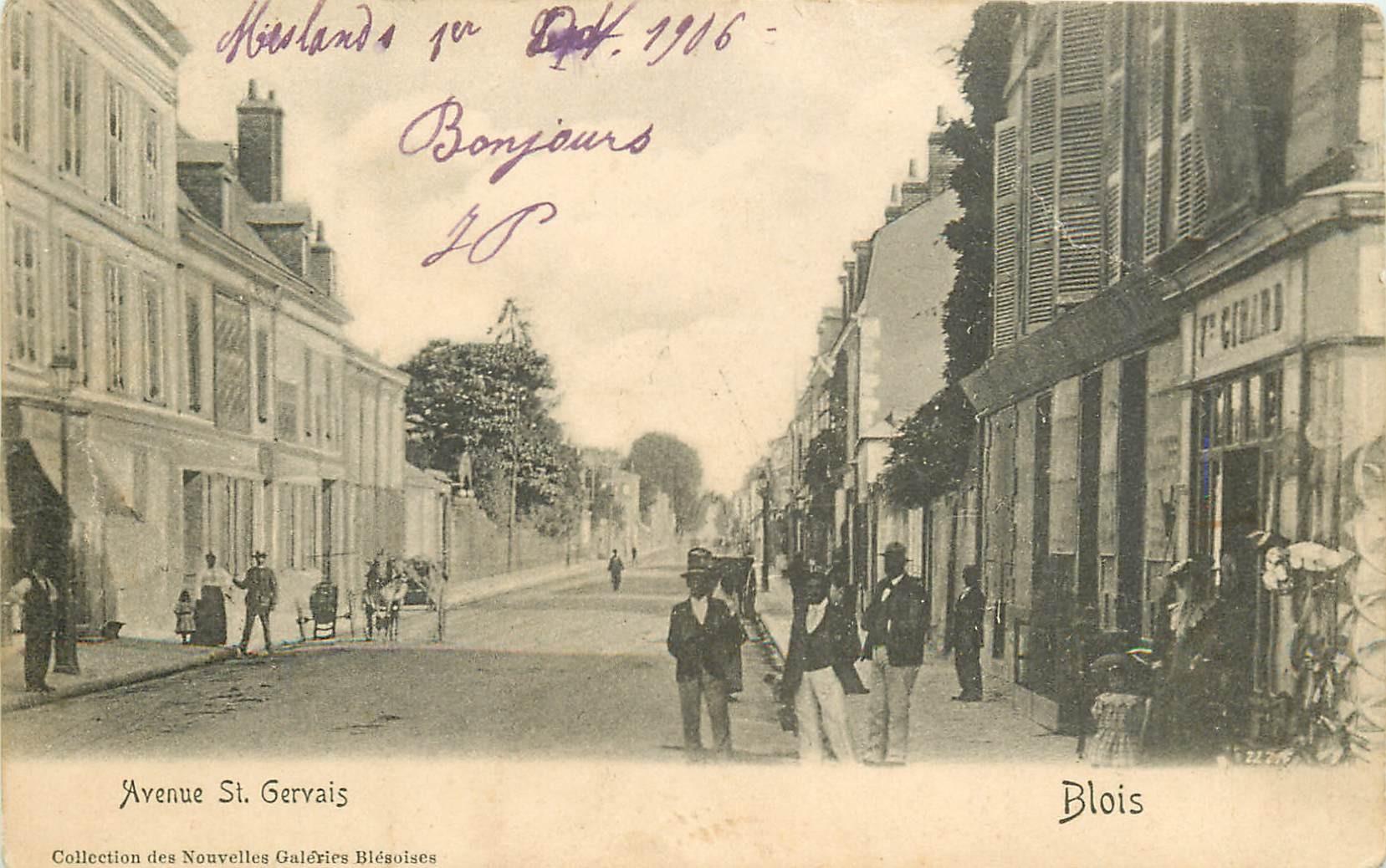 41 BLOIS. Commerce Girard Avenue Saint-Gervais 1904