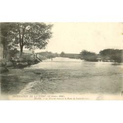 41 BLOIS. Inondation Loire en 1907 le Torrent route de Saint-Gervais