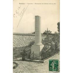 92 SCEAUX. Monument des Soldats tués en 1870 au Cimetière 1912