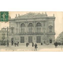 2 x cpa 34 MONTPELLIER. Théâtre Municipal et Arc de Triomphe 1911